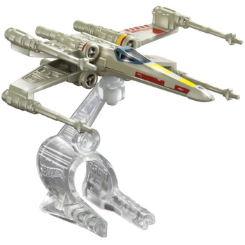 A favourite Star Wars starship re-created as a Hot Wheels miniature. The X-Wing Fighter (Red 5) starship measures around 7.5 cm (3 inches) in length and comes with Flight Navigator display stand.