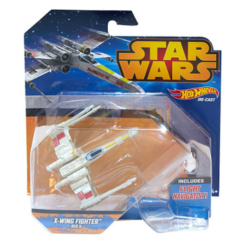 Hot Wheels Star Wars X-WING FIGHTER (Red 5) Die-cast Starship Vehicle in packaging.