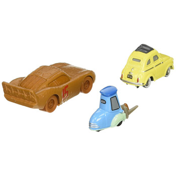 Disney Pixar Cars 3: Lightning McQueen as CHESTER WHIPPLEFILTER, LUIGI & GUIDO with Cloth 1:55 Scale Die-Cast Vehicle 3-Pack