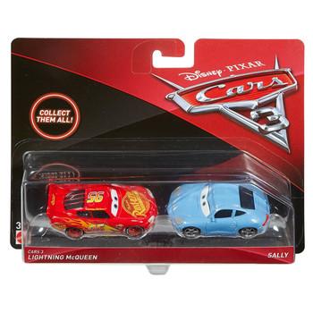 Disney Pixar Cars 3: LIGHTNING McQUEEN & SALLY 1:55 Scale Die-Cast Vehicle 2-Pack