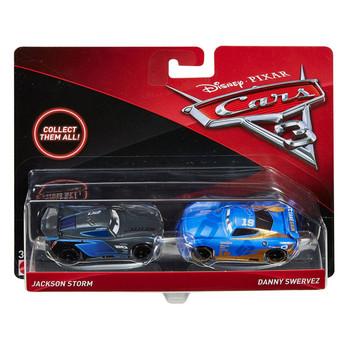 Disney Pixar Cars 3: JACKSON STORM & DANNY SWERVEZ 1:55 Scale Die-Cast Vehicle 2-Pack