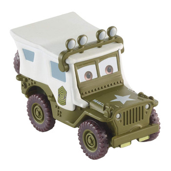 Disney Pixar Cars Christmas Holiday: SARGE with Roof Lights 1:55 Scale Die-Cast Vehicle