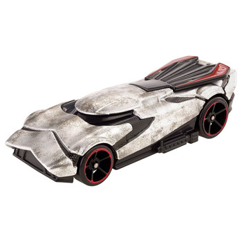 Iconic Star Wars characters - Captain Phasma & First Order Stormtrooper - re-imagined as Hot Wheels cars.