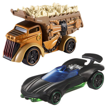 Iconic Star Wars characters Luke Skywalker and Rancor re-imagined as Hot Wheels cars.