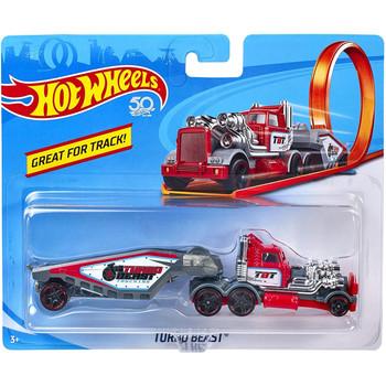 Hot Wheels Track Stars TURBO BEAST (Red) 1:64 Scale Die-Cast Truck