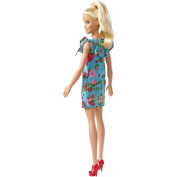 Barbie Fashionistas Doll 92 - Original with Blonde Ponytail & Teal Floral Dress