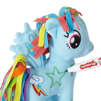 My Little Pony 20cm Scribble Me RAINBOW DASH Soft Toy