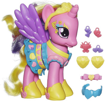 Princess Cadance figure wears and shares her friendship charms.