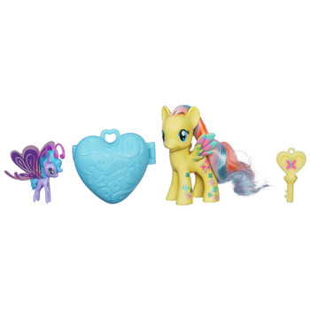 My Little Pony Cutie Mark Magic FLUTTERSHY & SEA BREEZIE Fairy with Locket & Key