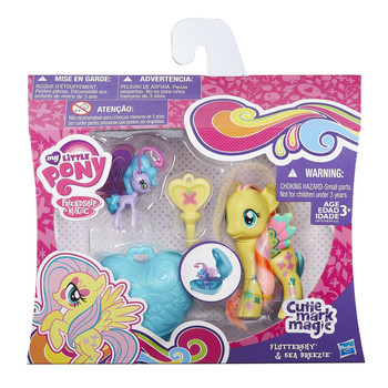 My Little Pony Cutie Mark Magic FLUTTERSHY & SEA BREEZIE Fairy with Locket & Key
