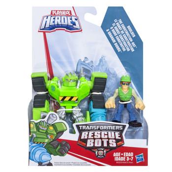 Transformers Rescue Bots BOULDER the Construction-Bot & GRAHAM BURNS Figures
