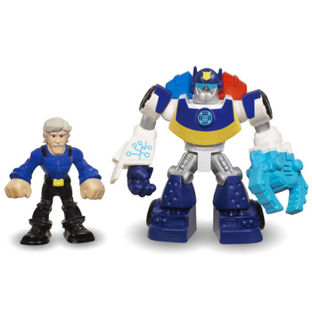 Transformers Rescue Bots CHASE the Police-Bot & CHARLIE BURNS Figures