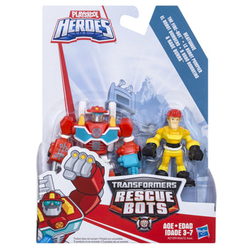 Transformers Rescue Bots HEATWAVE the Fire-Bot & KADE BURNS Figures