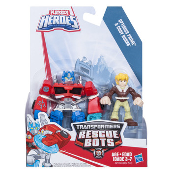 Transformers Rescue Bots OPTIMUS PRIME & CODY BURNS Figures