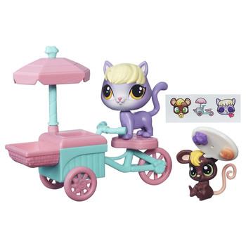 Littlest Pet Shop City Rides TRICYCLE BAKERY CART