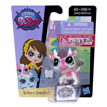 Littlest Pet Shop Get The Pets #3747 BUTTERY GREENFIELD the Cow