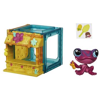 Littlest Pet Shop Mini Style Set with #4026 TAD PAULEN the Frog