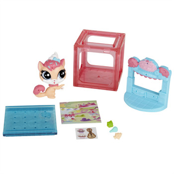 Littlest Pet Shop Mini Style Set with #3822 SUGAR SPRINKLES the Cat