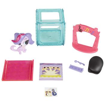 Littlest Pet Shop Mini Style Set with #3878 ZOE TRENT the Spaniel