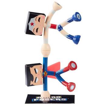 DC Comics Justice League Micro Pozers SUPERMAN & WONDER WOMAN Figure 2-Pack