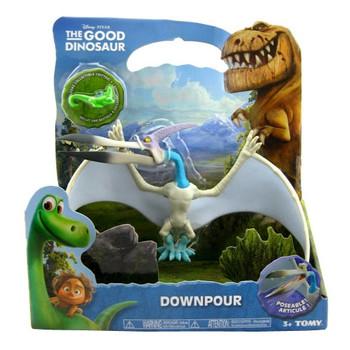 Disney Pixar The Good Dinosaur DOWNPOUR Large Poseable Pterodactyl Figure in packaging.