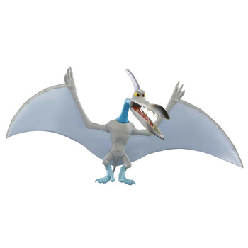 Fully poseable Downpour Pterodactyl figure measures around 5 inch (12.5 cm) tall, and comes with one green critter.
