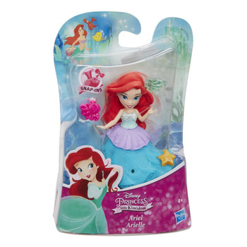 "Disney Princess Little Kingdom ARIEL 3"" Doll with 3 Snap-Ins"