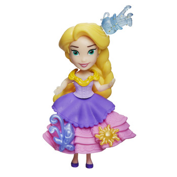 "Disney Princess Little Kingdom RAPUNZEL 3"" Doll with 3 Snap-Ins"