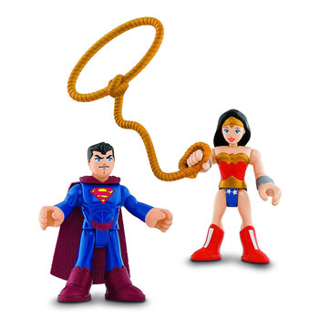 Imaginext DC Super Friends SUPERMAN & WONDER WOMAN Action Figures