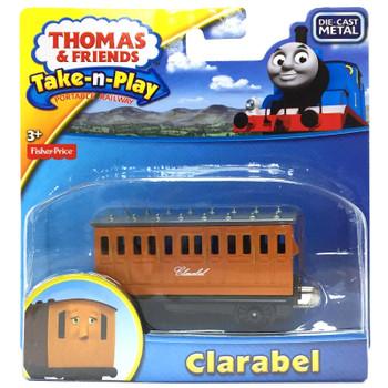 Thomas & Friends Take-n-Play CLARABEL Die-Cast Passenger Carriage in packaging.