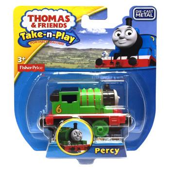 Thomas & Friends Take-n-Play PERCY Die-Cast Engine in packaging.