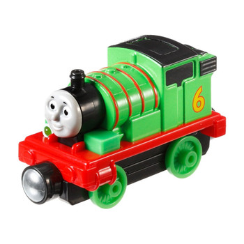 Percy comes to life with phrases, whistles and fun train sounds. Features a working headlight and as you roll him along the track you will hear a chug chug sound. The faster you roll, the faster he chugs, or press the button to hear signature phrases in his very own voice.