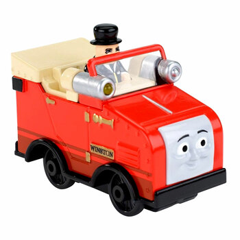 Winston comes to life as a collectible die-cast metal vehicle with phrases from Sir Topham Hatt and fun car sounds!