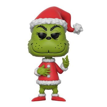 "Funko POP! Books Dr. Seuss THE GRINCH in Santa Outfit (Green) 3.75"" Vinyl Figure #12"
