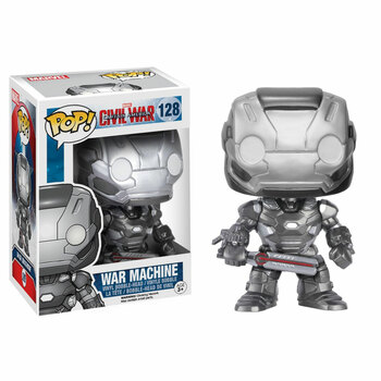 "Funko POP! Captain America Civil War WAR MACHINE 3.75"" Vinyl Bobble-Head Figure #128"