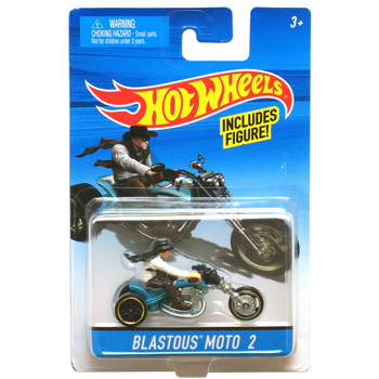 Hot Wheels BLASTOUS MOTO 2 Die-Cast Motorcycle with Rider