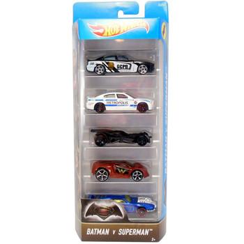 Hot Wheels BATMAN v SUPERMAN 1:64 Scale Die-Cast Vehicle 5-Pack