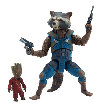 "Marvel Legends Guardians of the Galaxy 2: ROCKET RACCOON & GROOT 6""-Scale Action Figures"