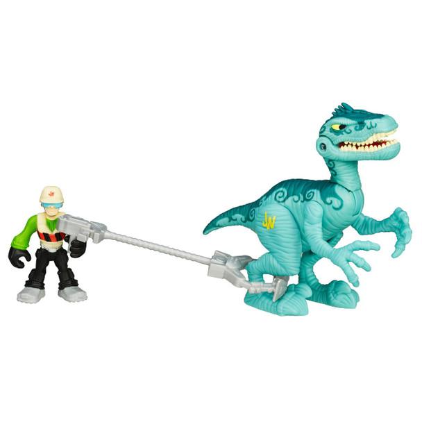 Jurassic World VELOCIRAPTOR Dinosaur and Tracker Figure