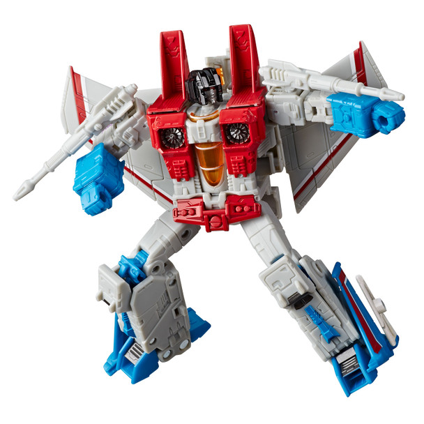 Transformers War for Cybertron: Earthrise Voyager Class STARSCREAM Action Figure in robot mode.
