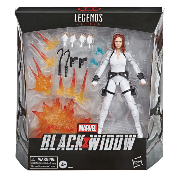 Marvel Legends 6-Inch Deluxe BLACK WIDOW Action Figure & Accessories in packaging from the front.