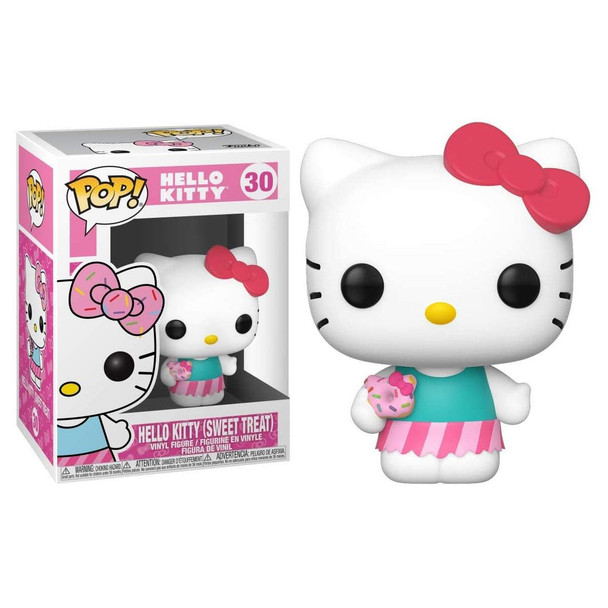 From Sanrio, it's Hello Kitty in her Sweet Treat outfit as a stylized Funko Pop! Vinyl figure.