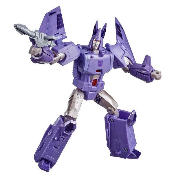 Cyclonus, a Herald of Unicron, first appears in the 1986 movie when Bombshell/Skywarp/both/neither was reformatted into the second-in-command of Galvatron.