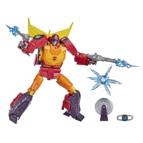 This Studio Series 86 Voyager Class The Transformers: The Movie-inspired Autobot Hot Rod figure converts from robot to sports car mode in 29 steps.
