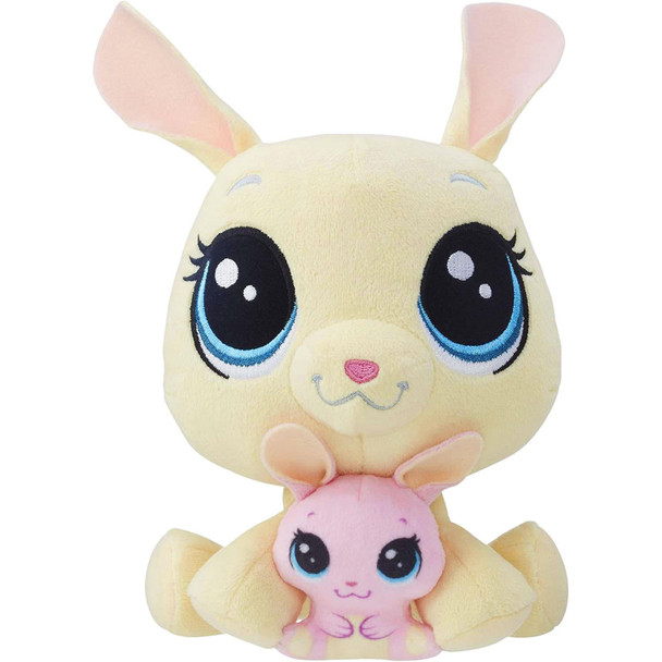 Vanilla Velvetears is an adorable plush pet bunny who comes with her baby, Bijou Velvetears, nestled between her cute, furry paws.