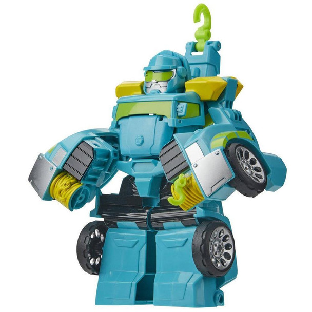 Little heroes can enjoy twice the fun with 2 modes of play, converting this Hoist action figure from tow truck to robot and back again.