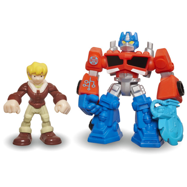 Transformers Rescue Bots OPTIMUS PRIME & CODY BURNS Figures