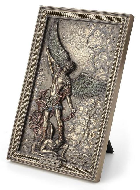 St Michael tabletop plaque