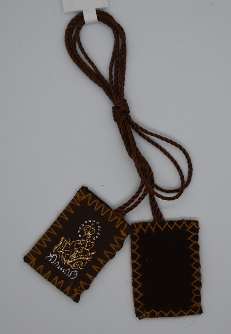 LCT- Brown Wool Scapular
