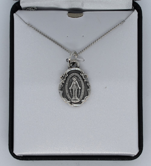 LCT-HJS Miraculous Medal , pewter, simple